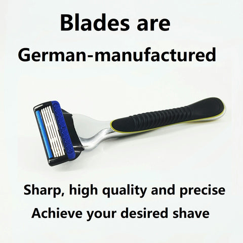 Sharp, high quality and precise shave with German manufactured blades
