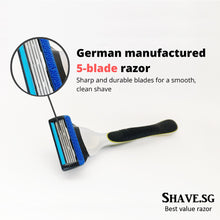 Load image into Gallery viewer, Shave.sg Premium Shaver Set (includes 4 refills)
