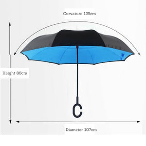 Reverse Magic Car Umbrella - Logo printing available for large quantity!