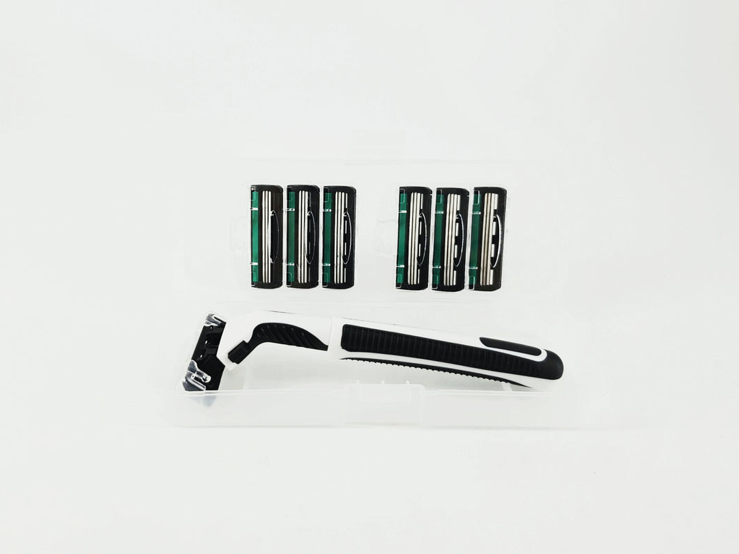 Lightweight Travel Shaver Kit with 6 Refills Cartridges Free Shipping from Singapore - Shave.sg