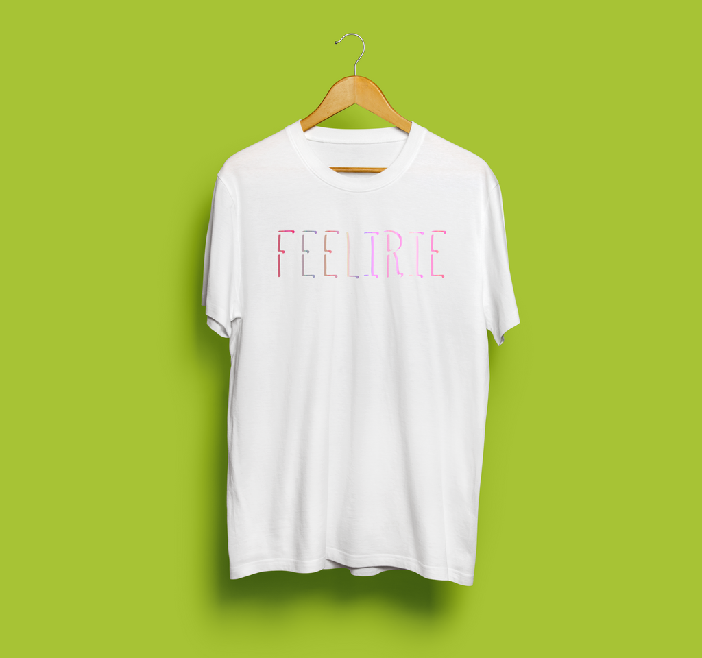 FEELIRIE | colourful TEE (white)