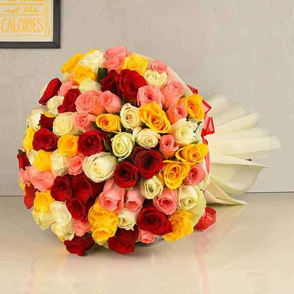 Mixed Feelings Bouquet (100 Stems)