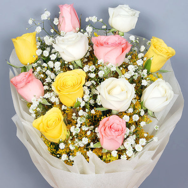 12 Mix Rose Bouquet