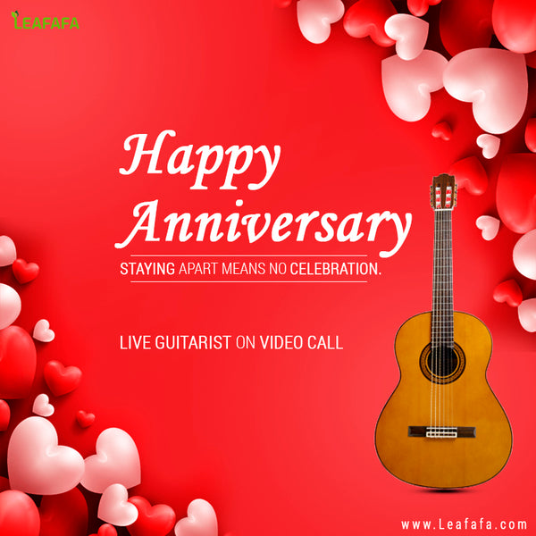 Live Guitarist On Video Call (Anniversary Specific) for 10-15 minutes
