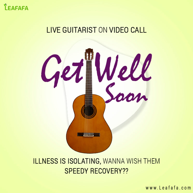 Live Guitarist on Video call (Healing Melody) For 10-15 minutes