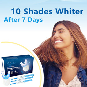 Mysmile Deluxe Teeth Whitening Kit - Help Fast Whiten Your Yellow Teeth in 10 min