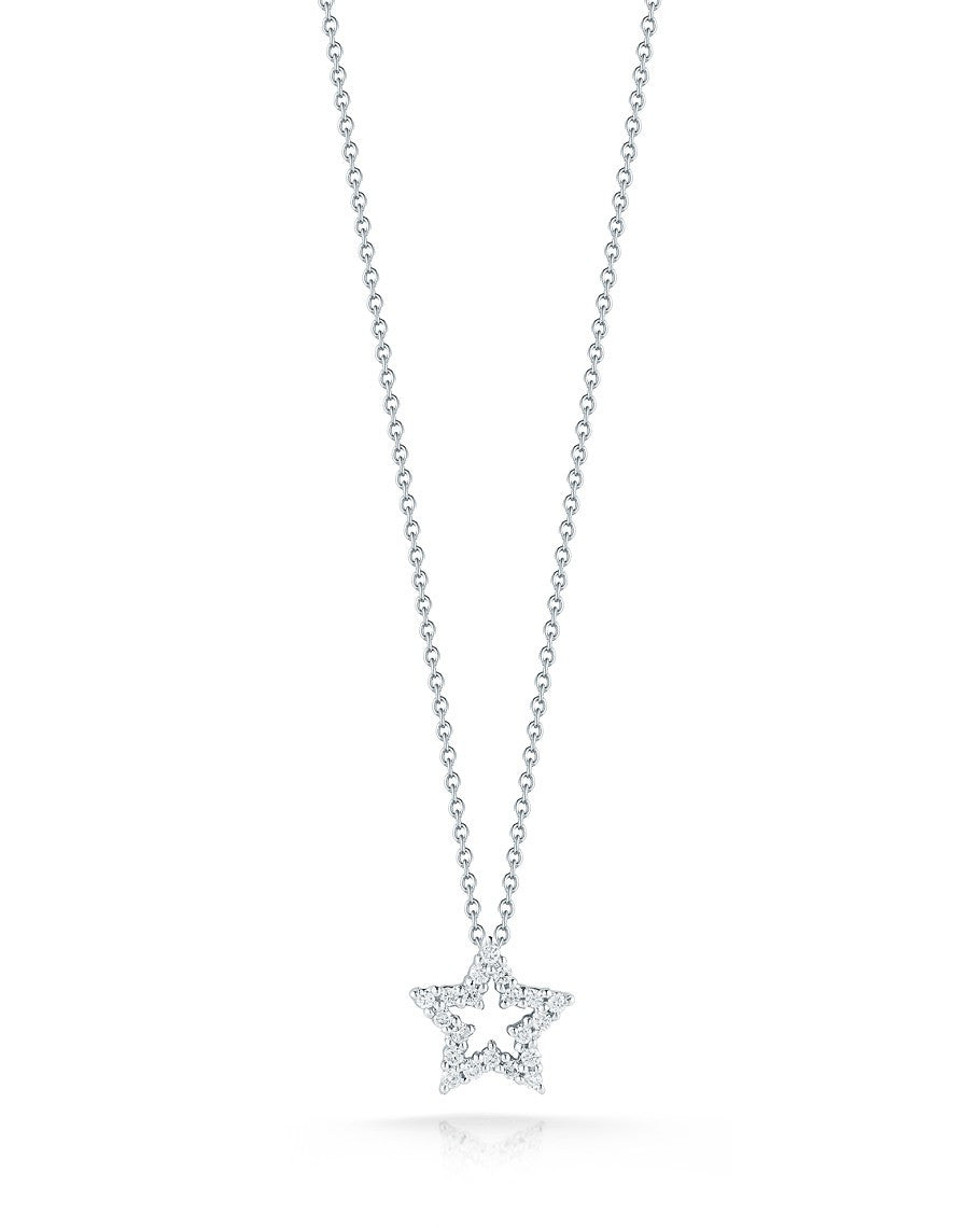 Diamond Star Necklace, Necklace, Tiny Treasures - Ora by D'Amore Jewelers