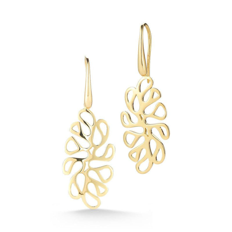 Sea leaf Yellow Gold Earring - Miseno -  Earring - Ora by D'Amore Jewelers