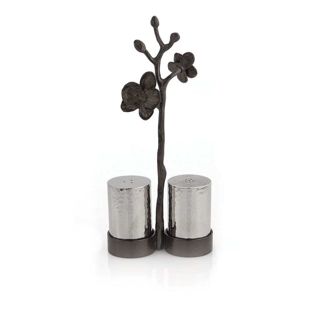 Black Orchid Salt & Pepper Set, Home, Michael Aram - Ora by D'Amore Jewelers