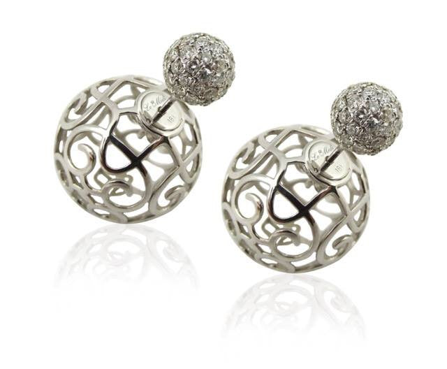 Firenze Diamond Earrings - Le Midi -  Earring - Ora by D'Amore Jewelers - 2