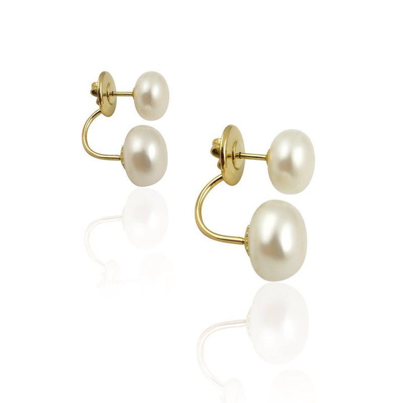 Le Midi Double Pearl Earrings - Le Midi -  Earring - Ora by D'Amore Jewelers