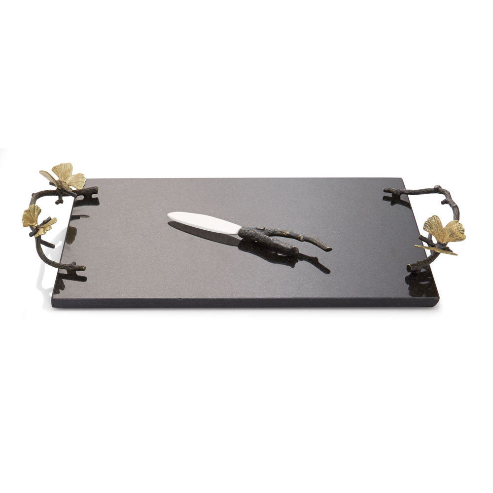 Butterfly Ginkgo Cheese Board w/ Knife, Home, Michael Aram - Ora by D'Amore Jewelers