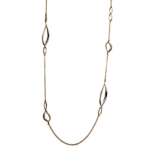 Jagged Diamond Interlocked Link Necklace