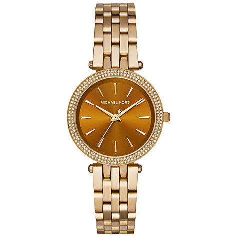 Michael Kors Darci Gold-Tone And Amber Watch - michael kors -  Watches - Ora by D'Amore Jewelers