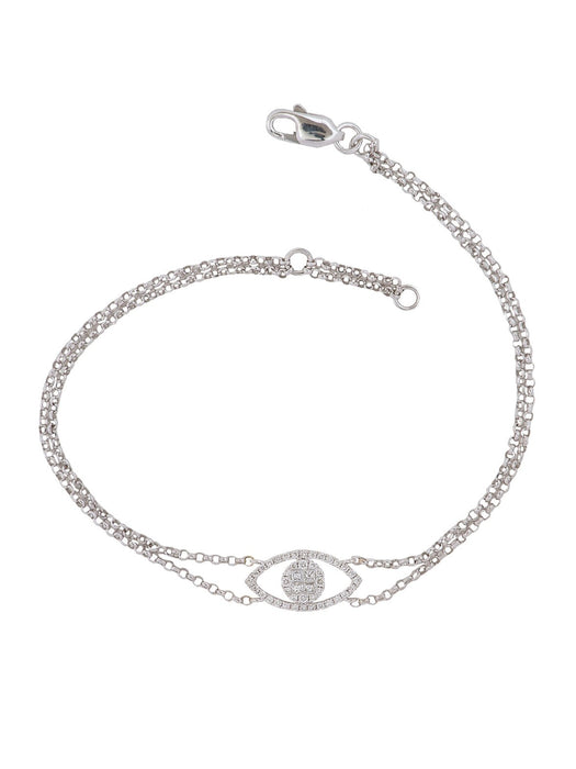 Evil Eye Pave Diamond Bracelet - Ora by D'Amore Jewelers -  Bracelet - Ora by D'Amore Jewelers - 1