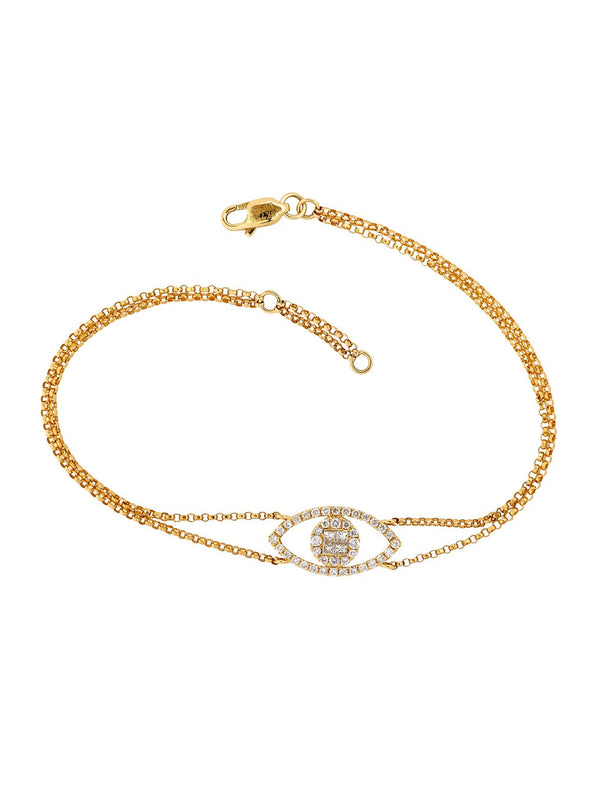 Evil Eye Pave Diamond Bracelet - Ora by D'Amore Jewelers -  Bracelet - Ora by D'Amore Jewelers - 2