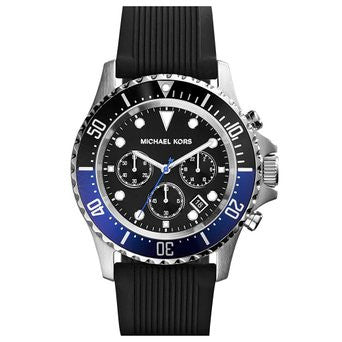 Michael Kors Everest Chronograph Black Dial Black Rubber Mens Watch - michael kors -  Watches - Ora by D'Amore Jewelers
