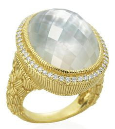 Aurora Oval Stone Ring, Ring, Judith Ripka - Ora by D'Amore Jewelers