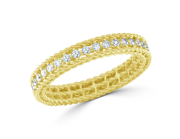 Symphony - Princess Diamond Ring- Yellow Gold, , Ring, Roberto Coin, D'Amore Jewelers
