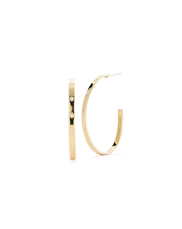 Bassa Hoop, Earring, elizabeth and james - Ora by D'Amore Jewelers
