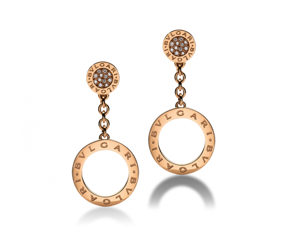 Bvlgari Bvlgari Pave Diamond Earrings - Bvlgari -  Earrings - Ora by D'Amore Jewelers