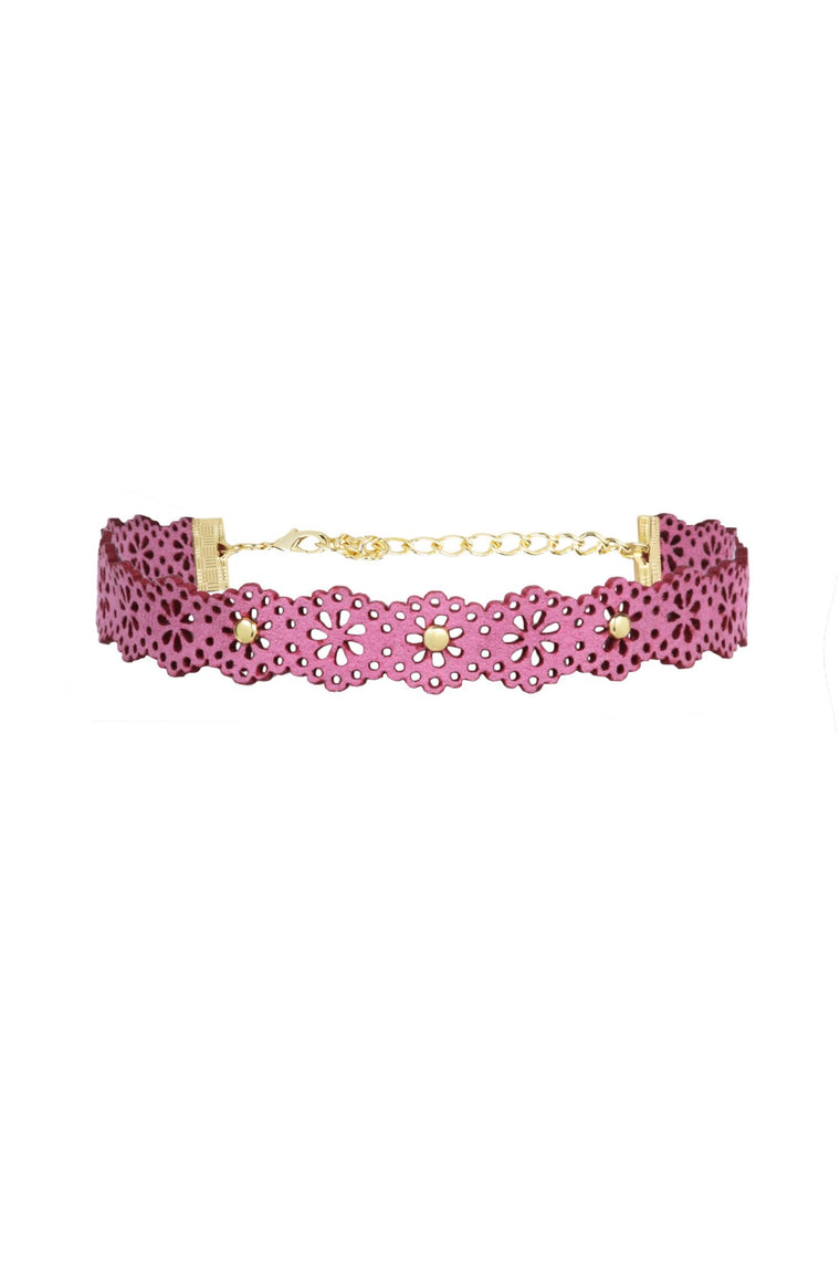 Floral Edition Choker in Pink and Gold