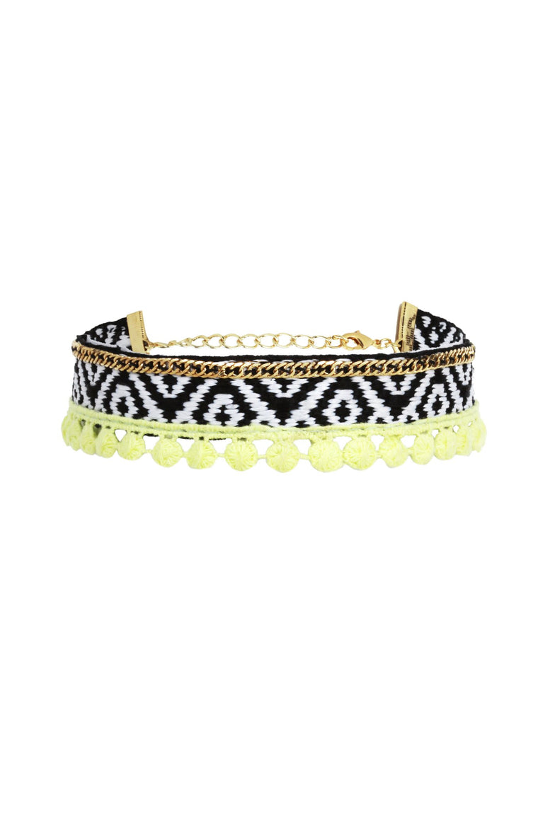 Life of the Party Choker in Black, Green and Gold