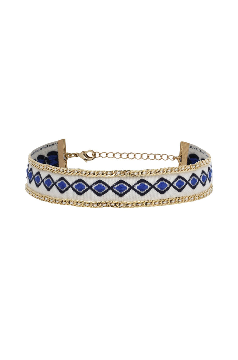 Into the Blue Choker in Blue and Gold