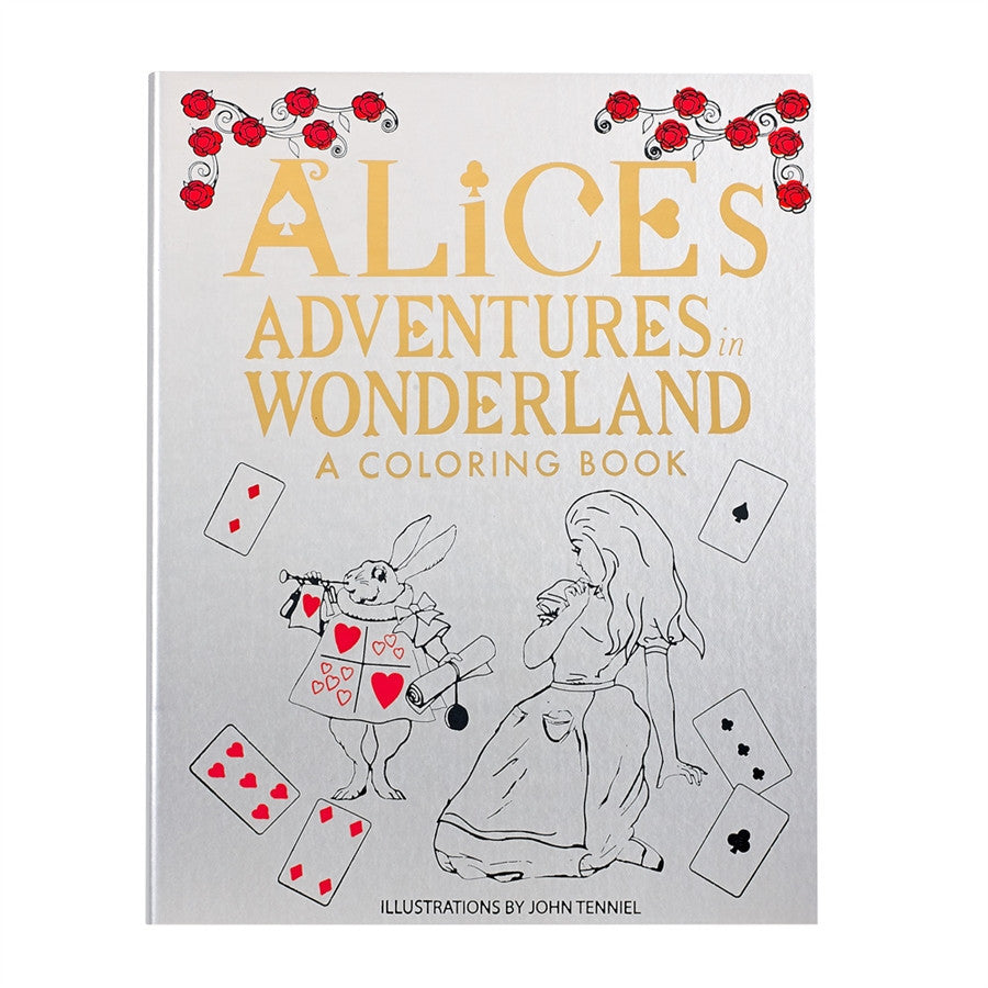 Alice in Wonderland - Our leather Adult Coloring Books can provide hours of stress relief, fun and creative expression., Home, Graphic Image - Ora by D'Amore Jewelers