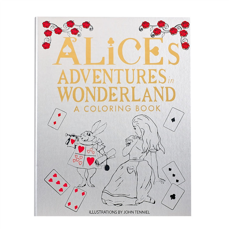 Alice in Wonderland - Our leather Adult Coloring Books can provide hours of stress relief, fun and creative expression.