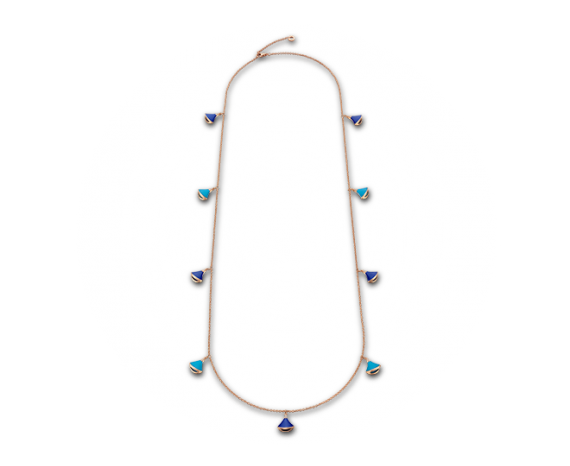 Diva Tourquoise, Lapis Lazuli, and Pave Diamond Necklace, Necklace, Bvlgari - Ora by D'Amore Jewelers