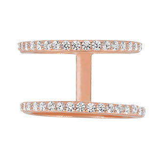 Double Band Ring - Rose Gold