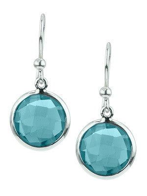 SILVER KAHILI EARRING IN BLUE TOPAZ - Stephen Estelle -  Earring - Ora by D'Amore Jewelers