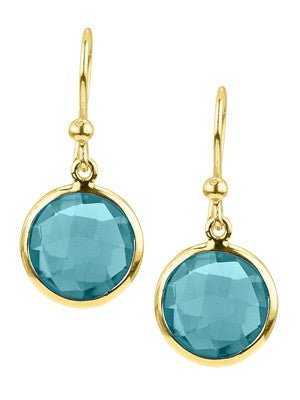 22K VERMEIL KAHILI EARRING IN BLUE TOPAZ, Earring, Stephen Estelle - Ora by D'Amore Jewelers