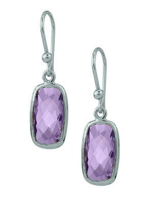 SILVER RIOJA EARRING IN AMETHYST - Stephen Estelle -  Earring - Ora by D'Amore Jewelers