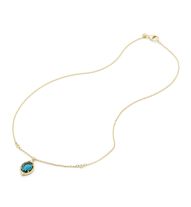 La Petite London Blue Spinel Oval Pendant Necklace - Judith Ripka -  Necklace - Ora by D'Amore Jewelers - 2