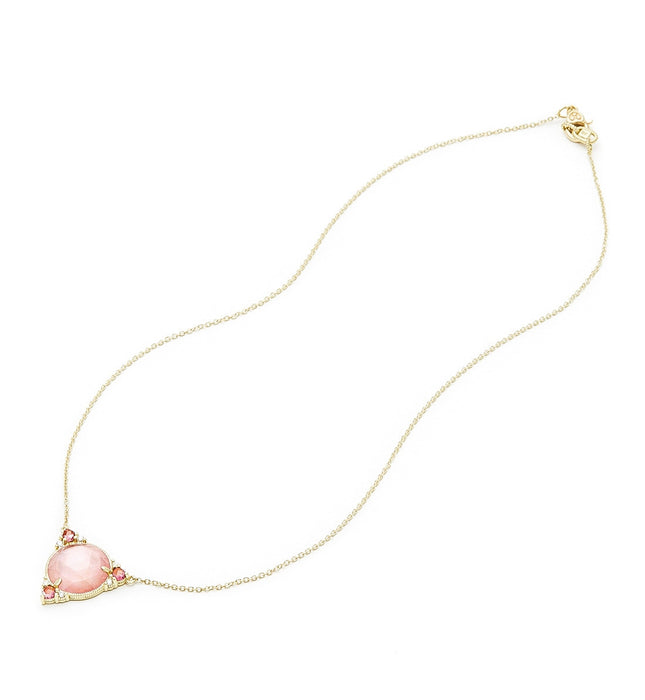 Allure Pink Mother Of Pearl Cabochon Pendant Necklace, Necklace, Judith Ripka - Ora by D'Amore Jewelers