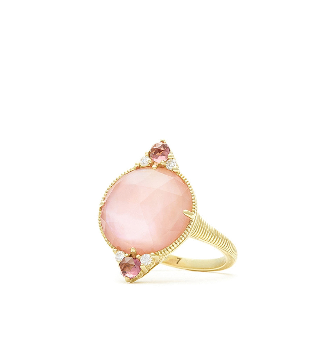 Allure Pink Mother of Pearl Small Cabochon Ring, Ring, Judith Ripka - Ora by D'Amore Jewelers