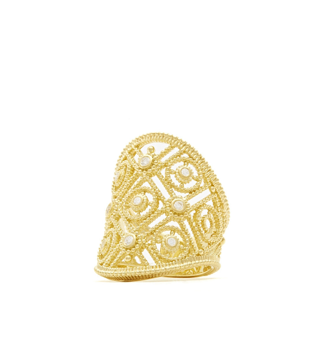 Gabrielle Diamond Saddle Ring, , Ring, Judith Ripka, D'Amore Jewelers  - 1