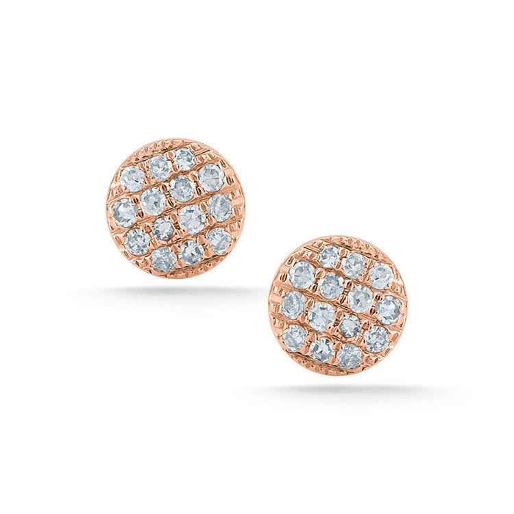 Lauren Joy Mini Stud Earrings - Rose Gold