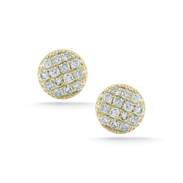 Lauren Joy Mini Stud Earrings - Yellow Gold