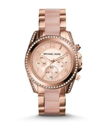 Michael Kors Blair Pavé Rose Gold-Tone Watch - michael kors -  Watches - Ora by D'Amore Jewelers