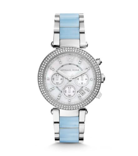 Michael Kors Parker Silver-Tone Acetate Watch - michael kors -  Watches - Ora by D'Amore Jewelers