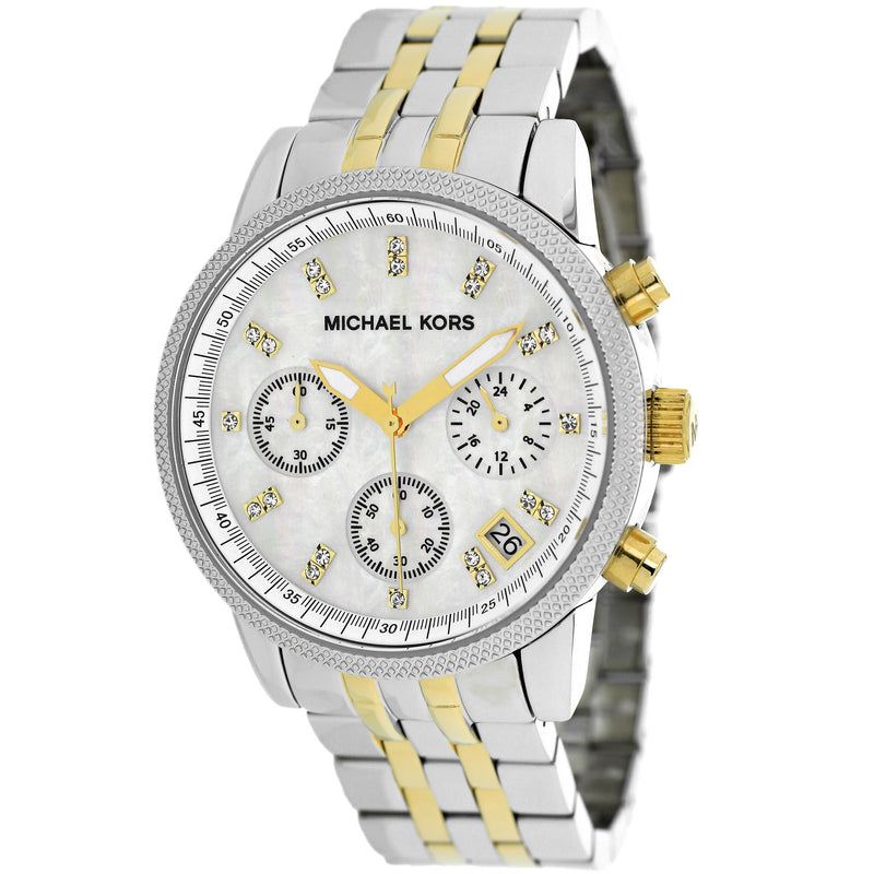 Ritz Chronograph Two-Tone Watch - michael kors -  Watches - Ora by D'Amore Jewelers