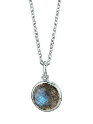 SILVER IOS NECKLACE IN LABRADORITE - Stephen Estelle -  Necklace - Ora by D'Amore Jewelers