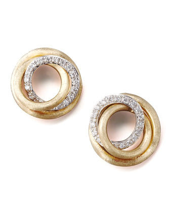 Jaipur Diamond-Link Stud Earrings, Earring , Marco Bicego - Ora by D'Amore Jewelers