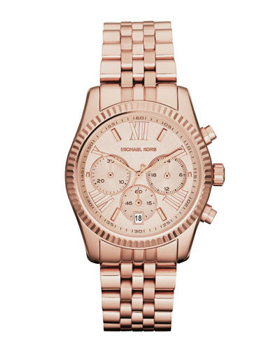 Rose Golden Stainless Steel Lexington Chronograph Watch - michael kors -  Watches - Ora by D'Amore Jewelers
