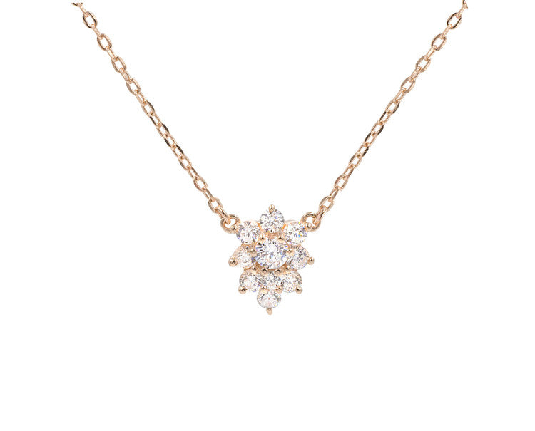 Sparkling Lucy Necklace - Rose Gold