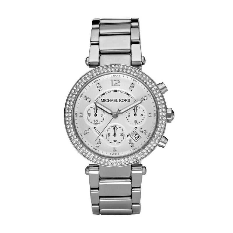 Michael Kors Chronograph Parker Stainless Steel Bracelet - michael kors -  Watches - Ora by D'Amore Jewelers