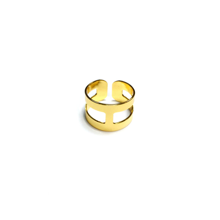 "High Shine ""H"" Ring"
